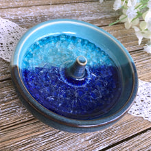 Turquoise & Blue Ring Holder with Glass Inlay - Say Your Piece!