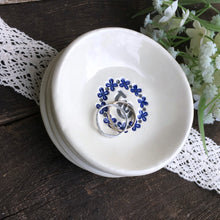 Flower Wreathed Monogrammed Ring Dish - Say Your Piece!