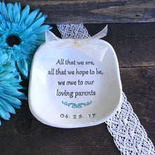 Wedding Keepsake Gift for Parents - All That We Are... We Owe to Our Loving Parents - Say Your Piece!