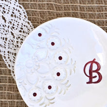Lace Impressed Monogrammed Ring Dish - Say Your Piece!