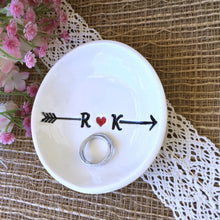 Heart and Arrow Personalized Ring & Trinket Dish - Say Your Piece!
