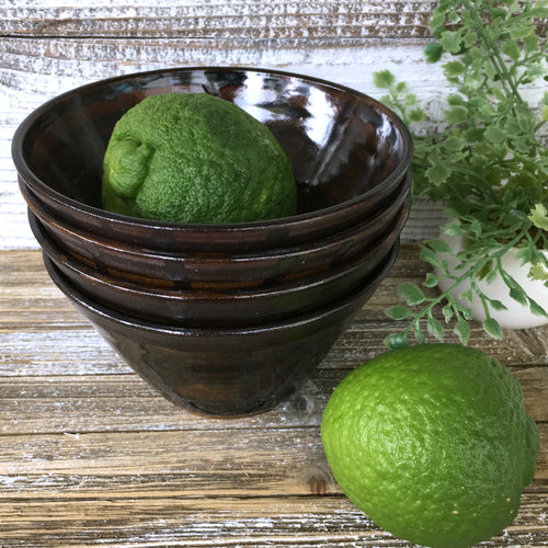 Four Piece Handcrafted Stoneware Bowl Set - Say Your Piece!