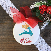 Prancing Reindeer Personalized Christmas Ornament - Say Your Piece!