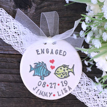 Personalized Wedding Ornament - Two Less Fish in the Sea - Say Your Piece!