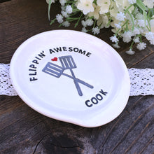 Flippin' Awesome Cook - Ceramic Spoon Rest - Say Your Piece!