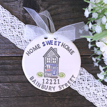 Home Sweet Home Personalized Housewarming Ornament - Say Your Piece!