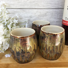 Tiger's Eye Stoneware Tumbler Set - Say Your Piece!