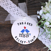 Personalized Engagement Ornament - Love Birds - Say Your Piece!