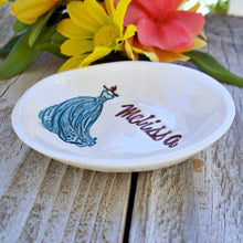 Bridesmaid Gift Ring & Jewelry Dish with Flowing Gown - Say Your Piece!