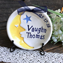 Moon and Stars New Baby Gift Birth Announcement Keepsake - Say Your Piece!