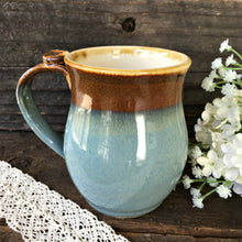 Rustic Mug Set - Traditional Stormy Blue and Brown - Say Your Piece!