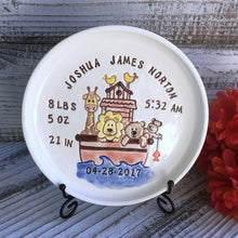 Noah's Ark Personalized Birth Announcement Keepsake Plate - Say Your Piece!