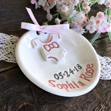 "Personalized Birth Plate w/""Onesie"" Design - Say Your Piece!"