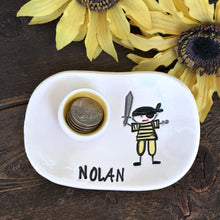 Personalized Pirate Tooth Fairy Dish for Little Boys - Say Your Piece!