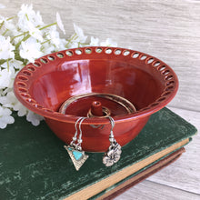 Deep Paprika Red Earring Organizer and Jewelry Bowl - Say Your Piece!
