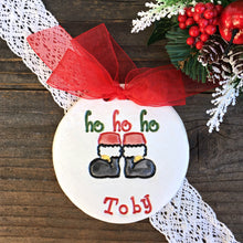 Santa's Boots Personalized Christmas Ornament - Say Your Piece!