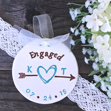 Scribble Heart & Arrow Personalized Engagement Ornament - Say Your Piece!