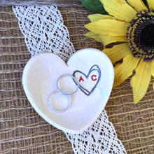 Personalized Small Heart Shaped Ring Dish - Say Your Piece!
