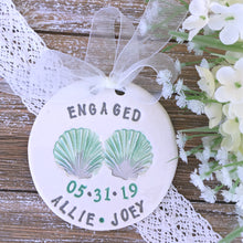 Beach Themed Personalized Engagement Ornament - Seashells - Say Your Piece!