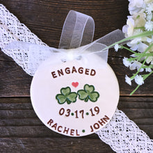 Shamrock Pair Engagement or Wedding Ornament - Say Your Piece!