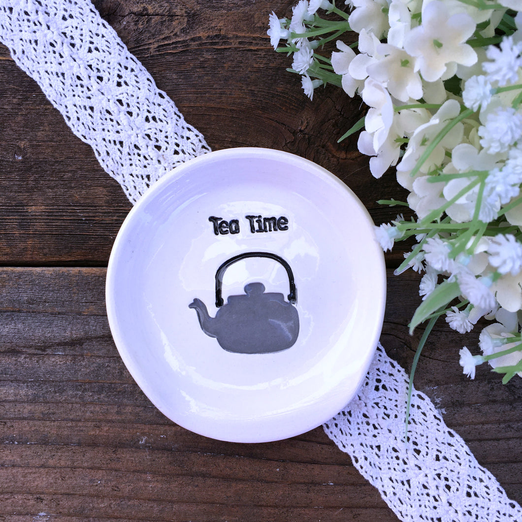 Tea Time - Tea Drinker's Spoon Rest - Say Your Piece!