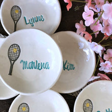 Tennis Team Personalized Ring Dishes - Say Your Piece!