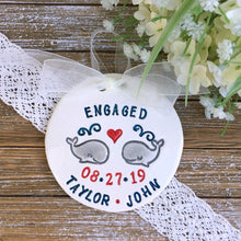 Whaley in Love Personalized Engagement Ornament - Say Your Piece!