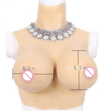 Load image into Gallery viewer, Realistic Silicone Breast Forms - High collar