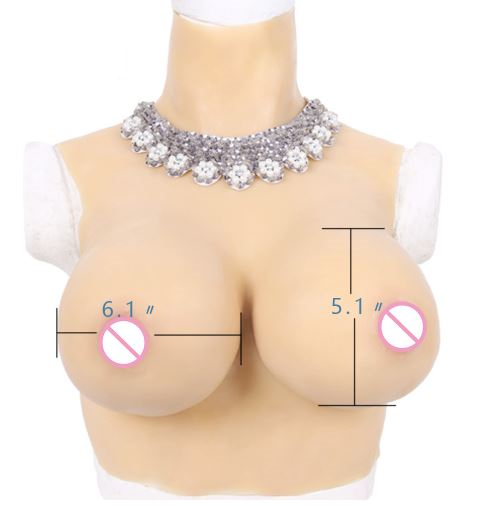 Realistic Silicone Breast Forms - High collar