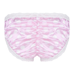 Pink Men's Lingerie Satin Panties