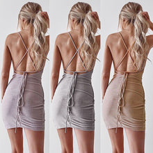 Load image into Gallery viewer, Backless Mini Dress