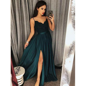Elegant Lace V-neck Long Dress