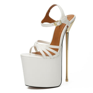Platfrom Pumps 22cm Cross-dressing Sexy Metal Heels
