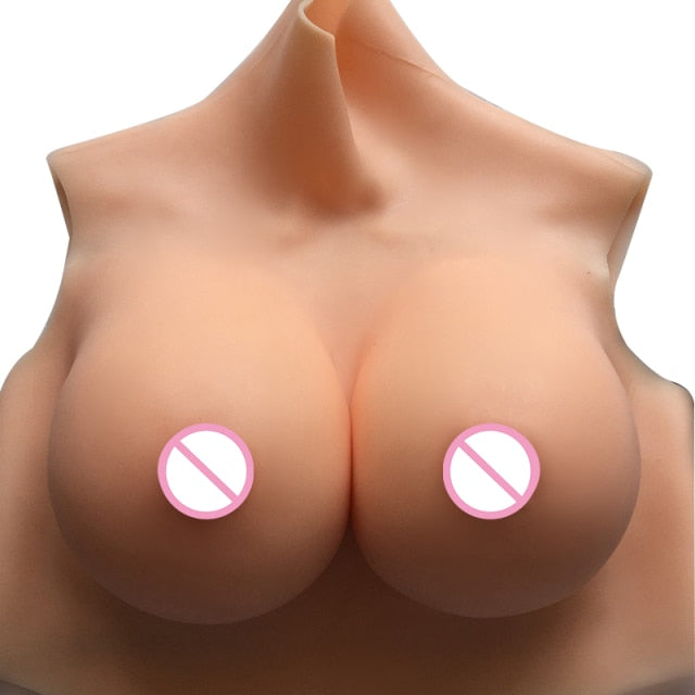 Fake Boobs Transgender C/D/E/G Cup Breast Forms Silicone