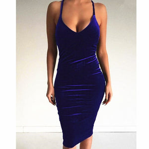 Open image in slideshow, Velvet Sleeveless Dress