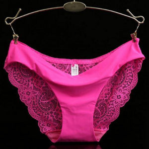 Sexy lace panties seamless cotton Hollow briefs