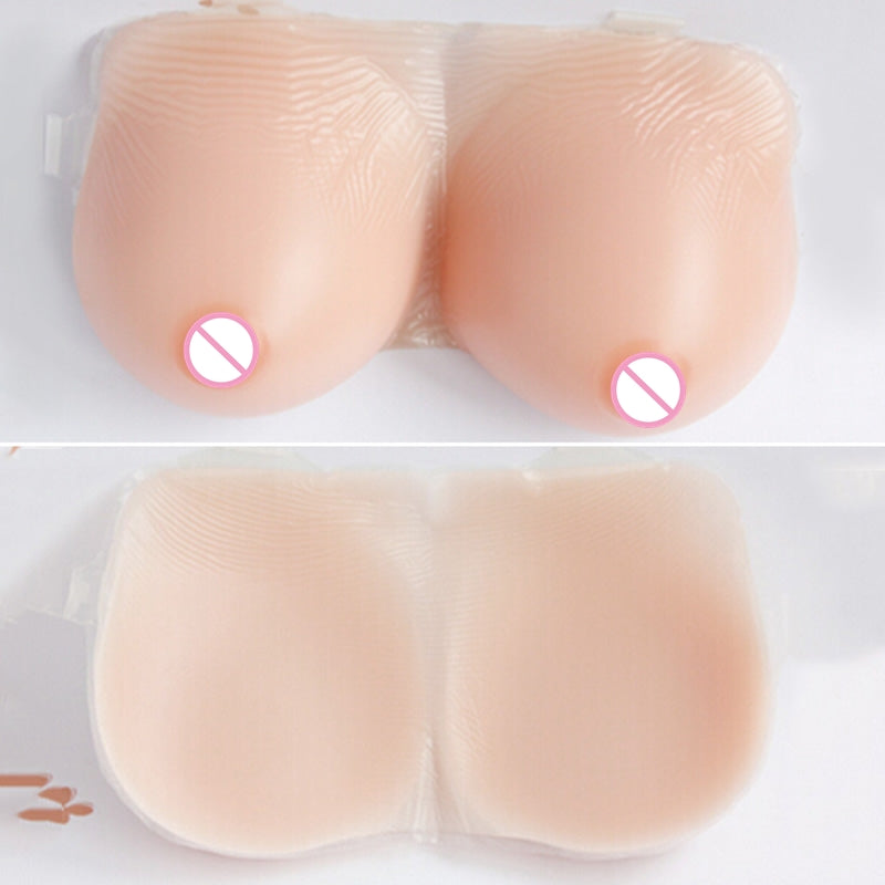F/G Cup Size XL - Silicone Breast Forms Strap for Crossdresser