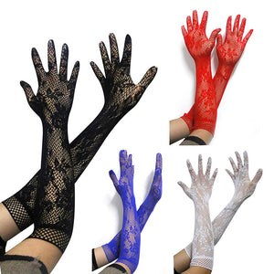 Long Elastic Sexy Arm Sleeve Lace Glove