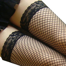 Load image into Gallery viewer, Sexy Thigh High Fishnet Stockings
