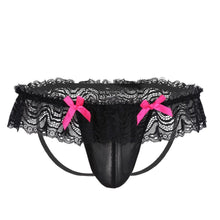 Load image into Gallery viewer, Men's Lingerie Mesh Lace Thong