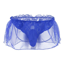Load image into Gallery viewer, Lace Flower Organza G-string