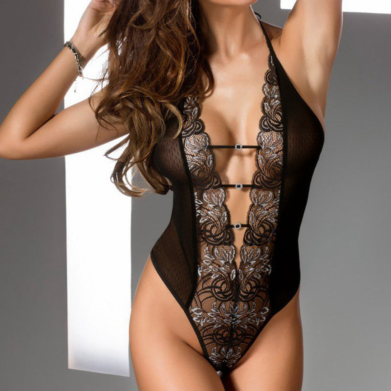 Sexy Teddy With Lace