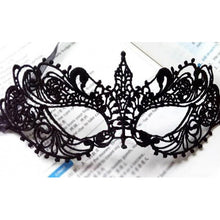 Load image into Gallery viewer, Face Hollow Black Lace Mask