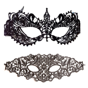 Face Hollow Black Lace Mask