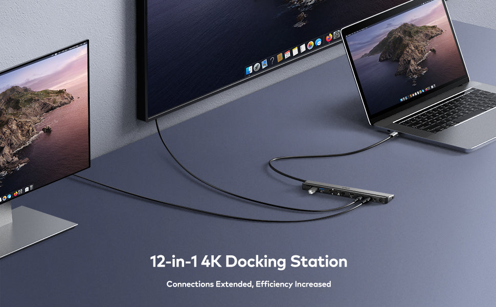 12 in 1 4k docking station