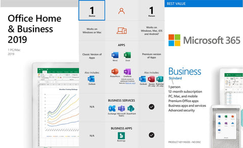 Office Home and business 2019 keycard