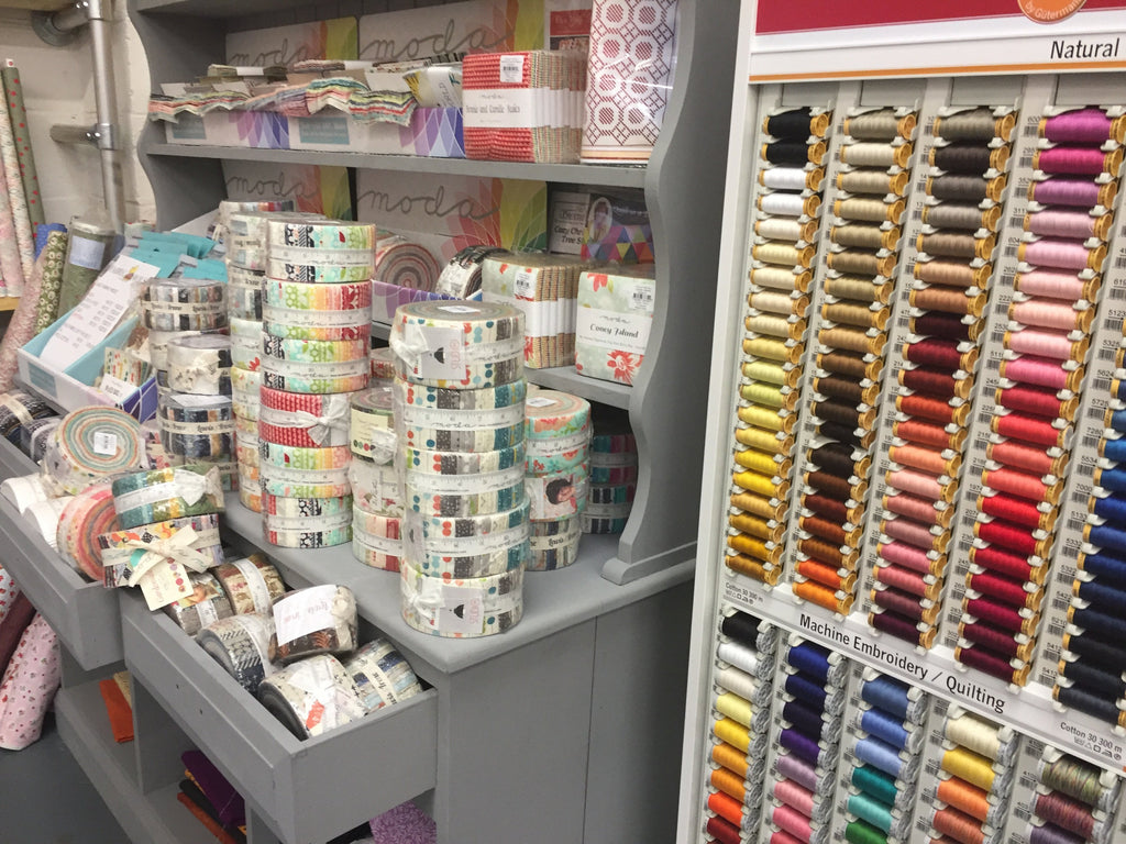 Pre Cut Fabrics Including Bali Pops, Moda Jelly Rolls, Moda Charm Packs & Moda Layer Cakes all at Fabric Mouse, DL10 7SN