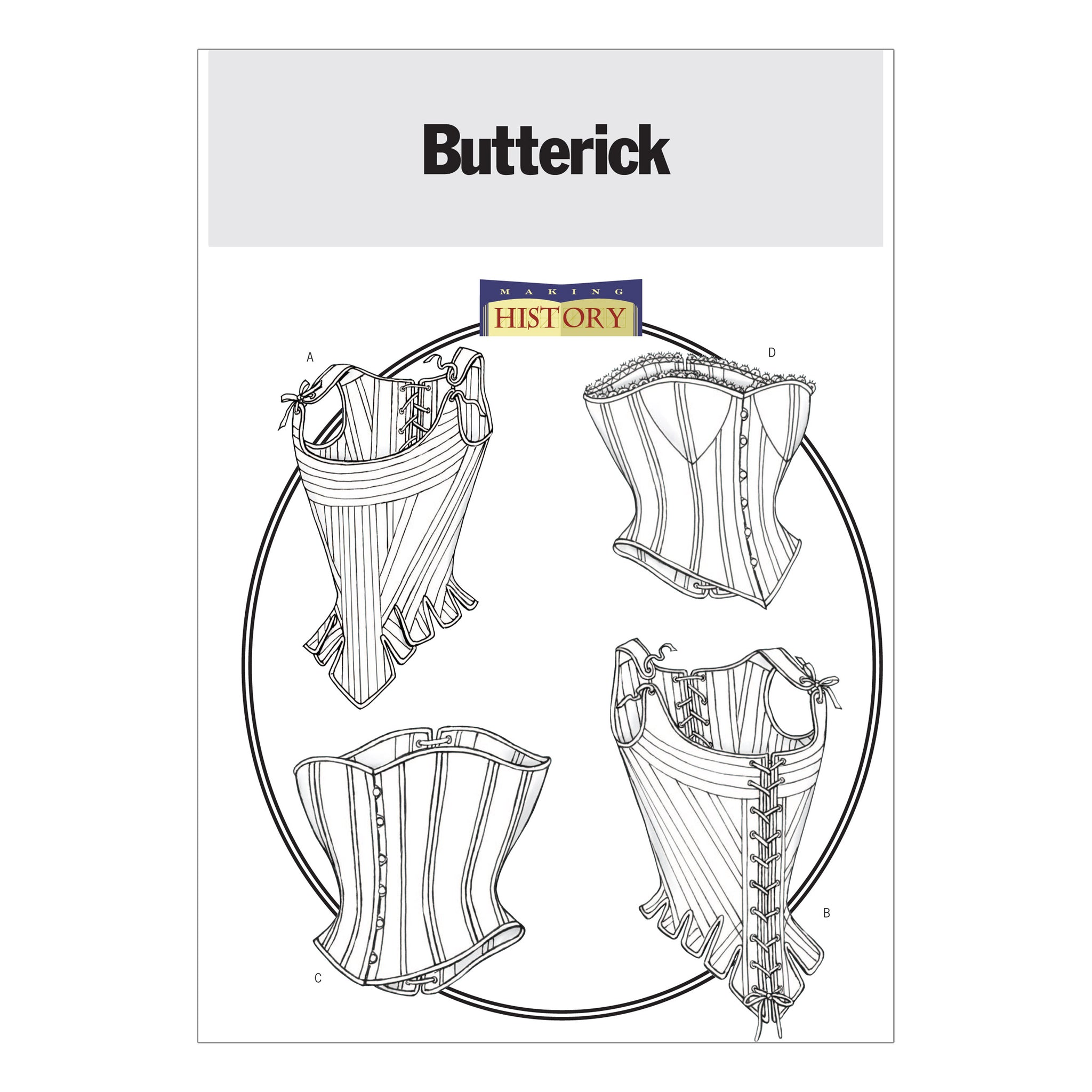Butterick B4254060 Misses' Stays and Corsets 6-8-10