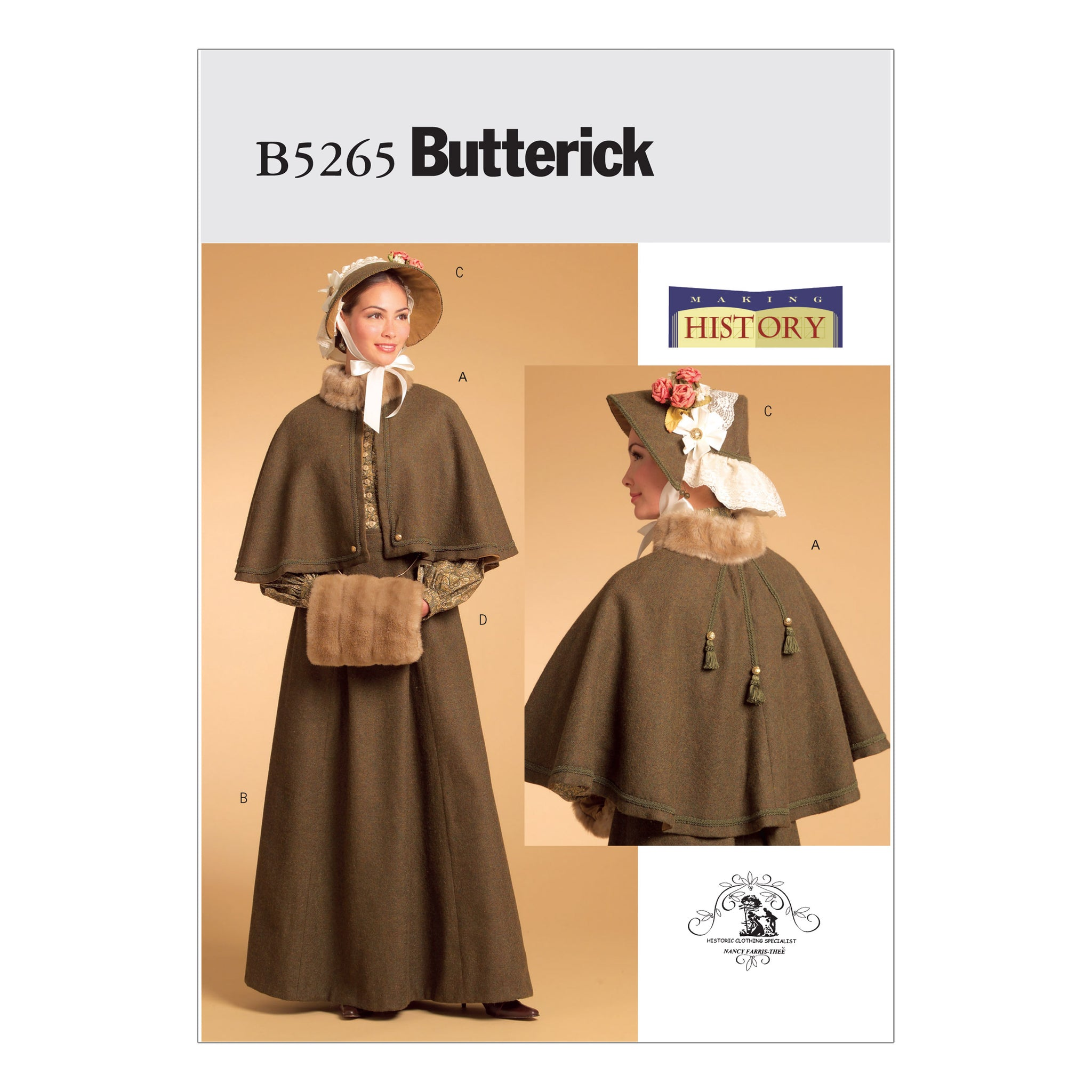 Butterick B5265AA0 Misses' Historical Costume 6-8-10-12