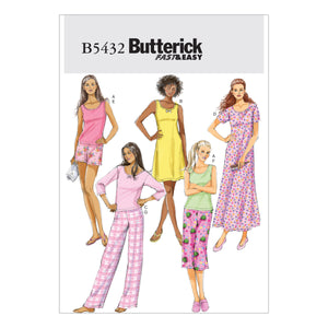 Butterick B54320Y0 Misses'/Misses' Petite Top, Gown, Shorts and Pants XSM-SML-MED